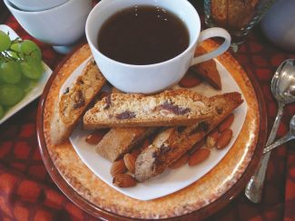 Special to the daily/Vera DawsonDip this chocolate chip biscotti in coffee or hot chocolate as an early morning treat.