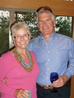 Lois Bruce is pictured with her significant other, John Merritt.