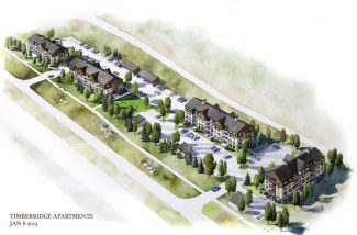 A Berglund Architects LLC rendering shows a new concept for the eastern half of the Timber Ridge development in Vail. The plans are in very early stages and the town of Vail has not yet decided how the proposal should move forward.