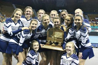 The Vail Christian High School dance team is all smiles after winning its second straight state championship.