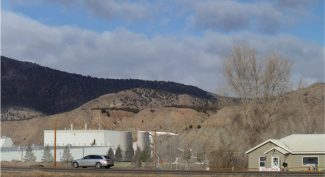 This rendering shows what the biomass power plant would look like from Green Way and U.S. Highway 6 in Gypsum.
