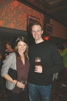 Celebrity Chef and judge on Bravo's Emmy-winning series Top Chef, Gail Simmons and Food & Wine Magazine's Production Manager James Flynn take some time to relax at the Grand Tasting in Beaver Creek.