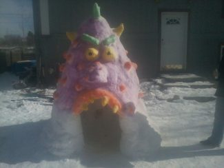 Getting creative on the snow day.