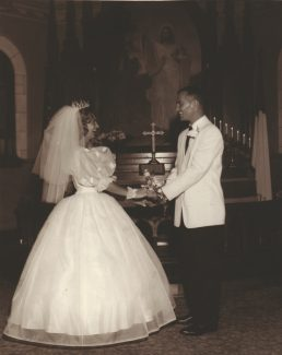 Special to the Daily Vi and Byron Brown on their wedding day.