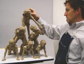 """Special to the DailyClay Enoch likes to sculpt the human figure as it is """"endlessly expressive,"""" he said."""