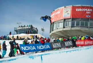 Special to the DailyEagle resident Jake Pates flies high out of the halfpipe on his way to winning the junior division of the Burton European Open. At the Burton U.S. Open, Pates will compete in the Open division against the men.