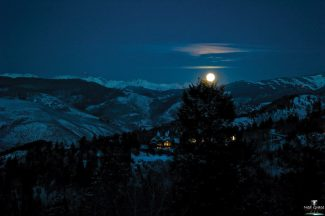 Full moon over Vail Valley sent in by reader Ned Grace.