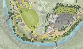 A second round of Ford Park projects would add education and office space for the Betty Fordm Alpine Gardens, a social courtyard for the Amphitheater, and improvements to Betty Ford Way.