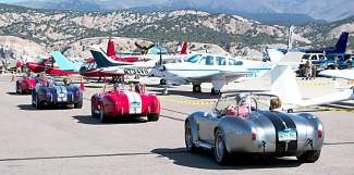 Vintage autos line the apron area of the Vail Valley Jet Center during last year's Wheels & Wings Show. The event returns to the Eagle County Regional Airport Saturday, Sept. 6.