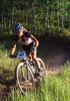 Gretchen Reeves hustles through a meadow on Vail Mountain, which will host both an enduro and cross-country race during the Outlier Off-Road Festival.