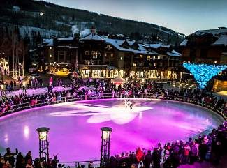 Professional ice skater Ryan Bradley will perform Dec. 20-21 in Winter Solstice on Ice on the ice rink in Solaris Plaza in Vail Village.