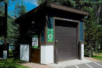The Vail Racquet Club has converted this trash shed into a recycling center for its homeowners and guests.