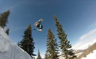 """VAIL: ON THE MOUNTAIN — Vail host John LaConte backflips off the Wailer during a Friday, March 11, episode of On the Hill. By the time Vail Mountain closes on Sunday, April 17, LaConte will have hosted 103 episodes for the 2015-16 — that's 103 chances fans had to hear him say """"hello and welcome!"""""""