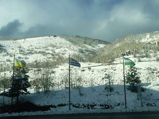 After snowfall blanketed much of Vail on Thursday, the sun did come out in the afternoon.