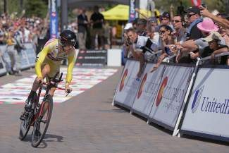 Tejay van Garderen set the fastest time in the 2013 Vail Pass Time Trial portion of the USA Pro Challenge cycling tour. The tour is skipping the Vail Valley for the first time this year.