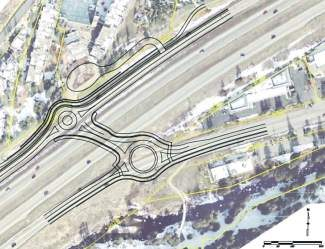 "Vail planners have proposed using a ""compact"" roundabout for the proposed underpass at Simba Run. It's about 30 percent smaller than a standard roundabout's 150-foot diameter — roughly 105 feet."
