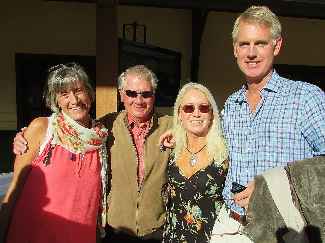 Terry and John Forester with Clea Newman (Paul Newman's daughter) and her husband, Kurt Soderlund.