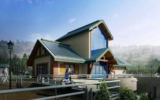 The Vail Village Welcome Center renovation includes an expansion to accommodate the construction of new restrooms, plus a reconfigured interior and a re-skin of the exterior.