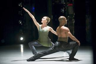"""Wendy Whelan and Kyle Abraham in """"The Serpent and the Smoke,"""" choreographed by Kyle Abraham. It's one of four duets from """"Restless Creature"""" being performed in Beaver Creek."""