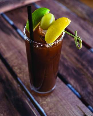 Mountain Standard's bloody mary has a distinct smokey flavor that comes from the chargrilled tomatoes used to make the homemade base for the cocktail.