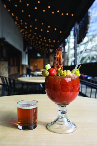 Westside Cafe's bloody mary comes in three flavors: bacon, habanero (called spicy) or regular.
