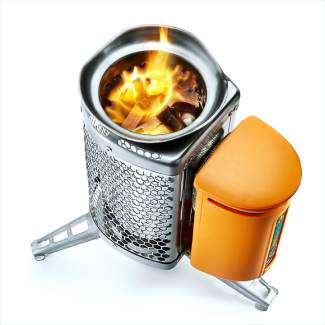 BioLite Wood-Burning Camp Stove (stoves start at $129.95, www.bioliteenergy.com).