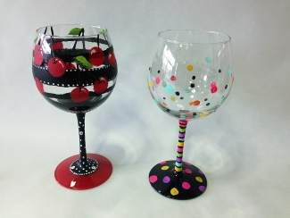 May's Cocktails and Canvas is from 6:30 to 8:30 p.m. on Thursday, featuring step-by-step instructions to create personalized wine glasses.