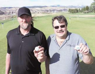 Dan Eby, left and Fed Kessler, right, made history at Gypsum Creek Golf Club on Saturday.