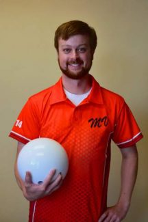 Mark Vetter is all smiles as he prepared to take on the world record for between-the-legs bowling.