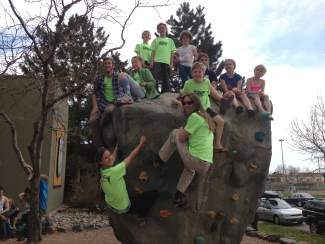Coaches Courtney Moore, Adam Markert and Larry Moore, Amalia Manning, Brody Nielsen, Ethan Pitcher, Benji Dantas and Jessie Hawkins are part of the Vail Athletic Club Climbing Team.