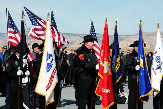 The honor guard prepares for the body of Capt. William DuBois to arrive by plane at Grand Junction Regional Airport in 2014. DuBois, 30, died Dec. 1, 2014 when his F-16 crashed in Jordan early in a mission that was planned as an attack on ISIS.