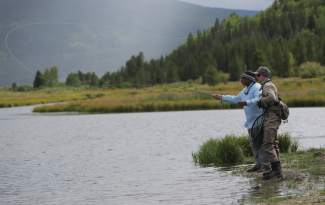 Vets take to the water for fishing at camp hale for Fly fishing team usa