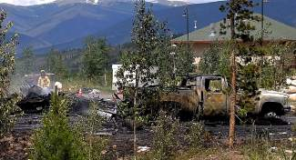 A view of the wreckage at St. Anthony Summit Medical Center on Friday.