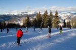 Skiers and snowboarders ride down Vail Mountain's Swingsville in 2015. The two snow sports have built a mutual respect for each other over the years, despite a rough start when snowboarders first hit the mountains.