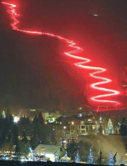 Golden Peak will light up New Year's Eve with a torchlight parade by local skiers and Vail Resorts employees who will carry glowing lights down the mountain forming a lava trail of light. The event starts at 6:15 p.m.