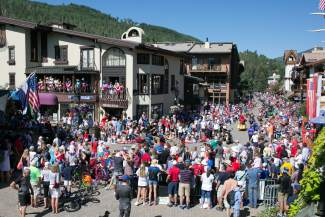 The streets of Vail are packed with people during the Vail America Days Fourth of July Parade. The Fourth of July is one of the busiest days of the year for the town of Vail.