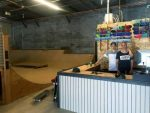 Cole Pates, right, and his brother Jake at CJ's Board Shop on McGregor Drive near Costco in Gypsum.