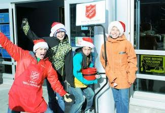 These students from Eagle County Charter Acadaemy volunteer for Children's Global Alliance in Eagle County. They were very successful bell ringers for Salvation Army Vail at Walmart. Many thanks to all of our bell ringers in the Vail Valley who contributed their time and energy to a successful Kettle Campaign this year!