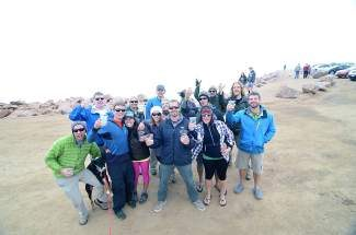 Birthday party on the summit of Pikes Peak! Congrats to Jordan for summiting all of the 14ers by your 30th birthday!