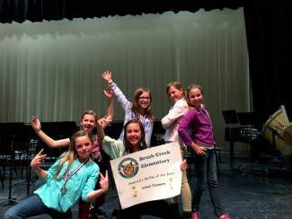 Congratulations to Brush Creek Elementary School's Bookmark Battlers on their win at the Eagle County Battle of the Book competition for fourth and fifth graders. Fantastic job girls! And here are the Bookmark Battlers: Sydney Adair, Berkeley Kelly, Olivia Dusenberry,  Hayley Bill, Mollie Ritsch and Sophia Rinn.