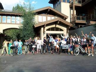 """Join the third annual Vail Villages Cruiser Crawl on Wednesday, June 11! The crawl will start at The Fitz (5-6 p.m.) followed by stops at Vail Chophouse in Lionshead (6-7 p.m.) and end at Atwater on Gore Creek (7-8 p.m.). There will be a Trek cruiser bike giveaway! You must be present to win and check in at the final stop! There is a costume contest with the theme """"Tiny Hats."""" For more information, contact Nicole Whitaker at 970-343-6115 or visit www.thefitzlounge.com."""