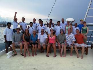 A Beaver Divers group consisting of 10 local divers explored Tubbataha's world heritage site.They explored the remote reefs in the Sulu Sea. Pictured are locals Jay, Christine, Becka and Whitney Van Voorst, Casey and Emily Zwaan, Elizabeth Janes, Mike Rose, Mark and Jacquie Landt. The next Beaver Divers adventures are to the Socorro Islands in January and Komodo, Indonesia, in October 2015.