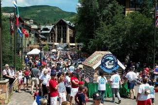 Come join us for the region's largest parade! It begins at 10 a.m. on July 4 and winds its way from Golden Peak on Vail Valley Drive, then west to Hanson Ranch Road, north on Bridge Street, west on Gore Creek Drive, north across the International Bridge, west along Meadow Drive and finally through the Lionshead Mall to finish at approximately noon. For a good view of the parade, arrive by 9:30 a.m. and pick a location along the parade route. These fun festivities continue throughout the day into the night with a spectacular firework show at Golden Peak at dusk. All of these events are extremely family oriented, so get the whole family to celebrate and enjoy the fun!