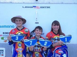 Congratulations to Halsey (No. 3, cruiser class), Nash (No. 7, expert class;  No. 2, cruiser) and Sari (No. 1, expert girls class. Mom Lucas and her boys earned their rankings and plates for their bikes in BMX races throughout the state this summer.