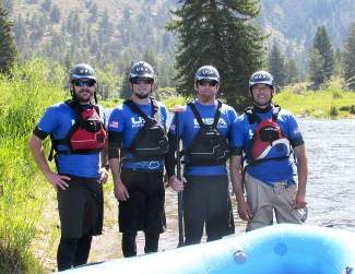 Meet the USA Rafting Team: Eagle and Summit county's own John Mark Seelig, John Anicito, Jeremiah Peck and Todd Toledo. The team is going to world's in Brazil on Oct. 8-19. Only 1/13th away from podium in 2013, the team plans to podium! We welcome your support. Donate by Aug. 31 and allow us to confirm four teammates and one alternate to attend within budgetary means. Donate at: http://usaraft.org. Photo by: Chelsea Roberson.