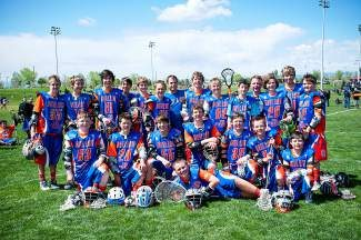 Vail Valley Lacrosse Club's U13 Red Team took first place in their age division at the Aspen Shoot Out! The team was undefeated in all games starting with a comeback win over their Aspen rivals, 4-3! A big thanks to coach Chris Jacobson for leading this team to victory! Pictured here is goalie Connor Underwood, (kneeling) Sam Tellor, Tucker Morrow, Burke Fancher, Bryce Runckel, Dylan Steuber, Griffin McGuckin and Corbin Wilson. Standing are Baker Gentry, Nick Walter, Alex Hilty, Cameron Bill, Tom Boyne, Cameron Woodland, coach Chris Jacobson, Zach McKeever, Mac Schmidt, Luke Jeffers, Ludvig Elvenger, Shane Cole, Max Timm and Garrett Sampson. Way to go!