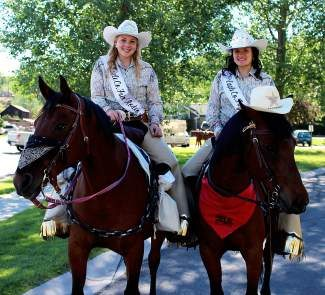 "Saturday's Eagle County Fair and Rodeo Royalty, Autumn and Erin, along with their trusty steeds, Maliki and Dutch, won second place in the Eagle Flight Days Parade as a sheriff and bank robber. The theme was ""How the West was Fun."" Join Autumn and Erin at the 75th annual Eagle County Fair and Rodeo July 23-26!"
