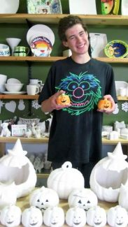 Get ready for Halloween!  At Alpine Arts Center our intern, Crosby Preytis, shows some of the pumpkins that are available to paint any Tuesday through Saturday from 10 a.m. to 6 p.m. See what else we have going on at www.alpineartscenter.org.