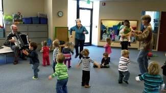 Prater Lane Play School would like to extend a huge thanky you to David and Nancy Sturgeon for playing at our school and dancing with us, too! We loved the accordion music and wish you a safe journey home to Scotland.