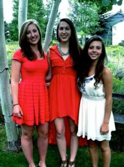 Allie Gruber, a junior at Vail Mountain School; Haley Hervert and  Katherine